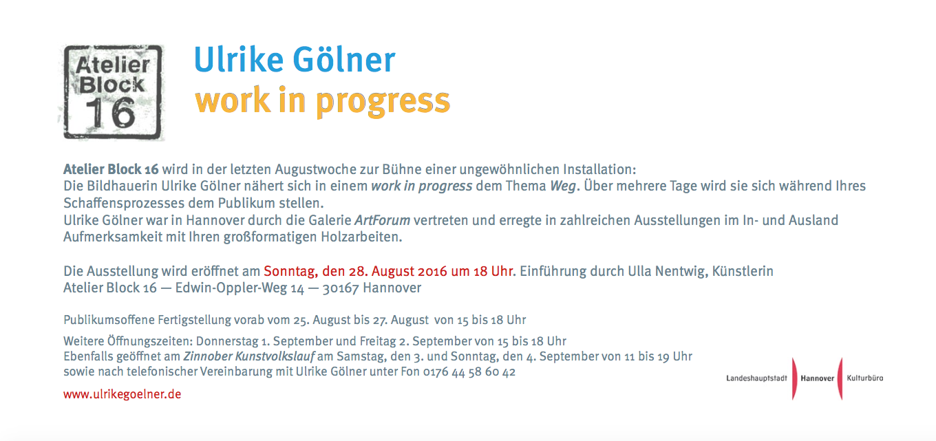 Ausstellung work in progress